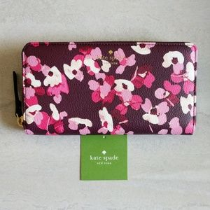 Kate Spade Floral Young Lane Lacey Zip Wallet
